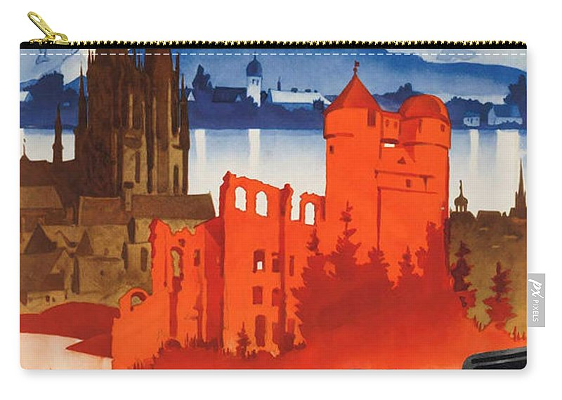 Germany Carry-all Pouch featuring the photograph Vintage Germany Travel Poster by George Pedro