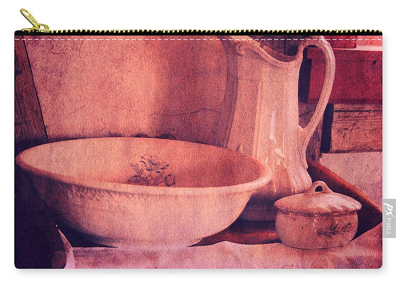 Basin Carry-all Pouch featuring the photograph Vintage Pitcher And Wash Basin by Jill Battaglia