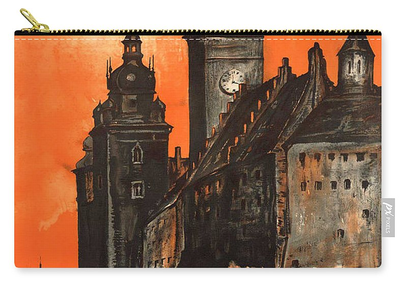Poland Carry-all Pouch featuring the photograph Vintage Poland Travel Poster by George Pedro