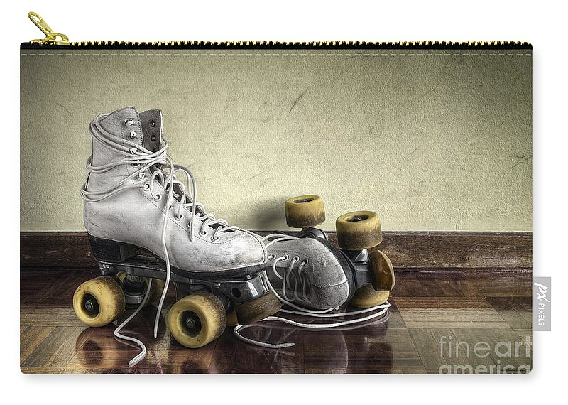Active Carry-all Pouch featuring the photograph Vintage Roller Skates by Carlos Caetano