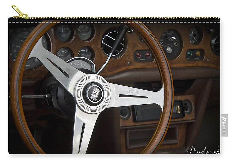 Vintage Carry-all Pouch featuring the photograph Vintage Rolls Royce Dash by Robin Lewis