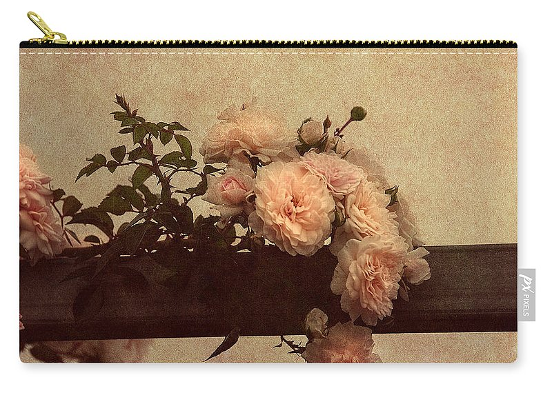 Vintage Roses Carry-all Pouch featuring the photograph Vintage Roses by Georgiana Romanovna