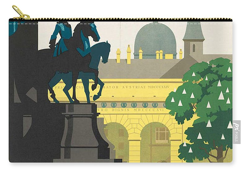 Vienna Carry-all Pouch featuring the photograph Vintage Vienna Travel Poster by George Pedro