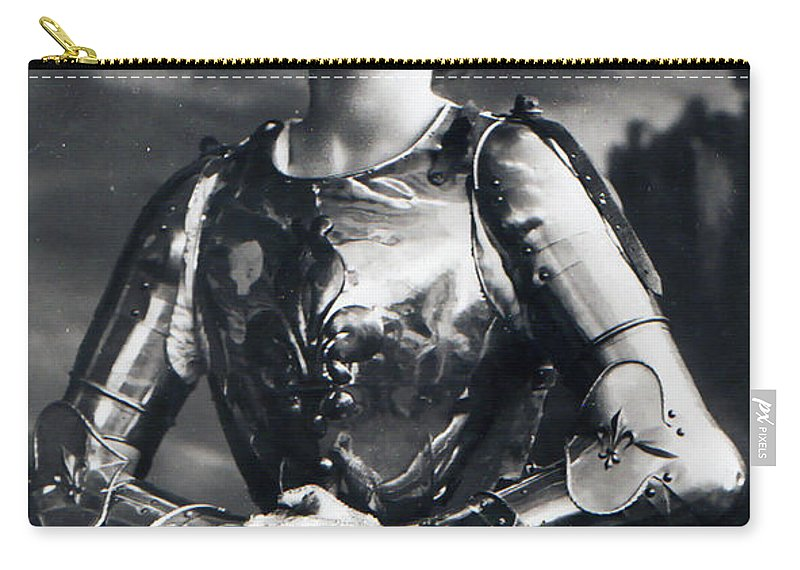 Gabrielle Ray 1883 1073 Virgin Female Girl Woman Orleon Classic Vintage Actress Carry-all Pouch featuring the photograph Virgin Of Orleon by Steve K