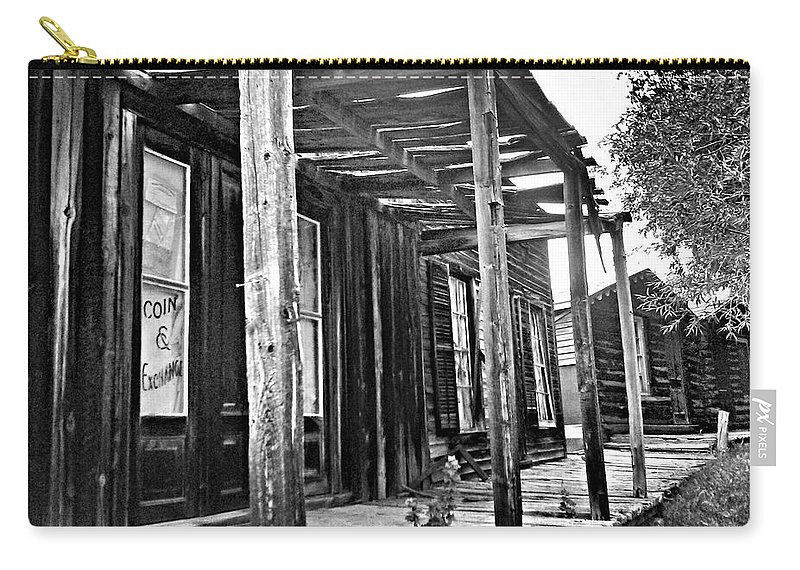 Ghost Town Carry-all Pouch featuring the photograph Virginia City Brewery Area by Susan Kinney