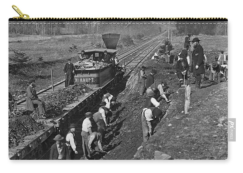 1861 Carry-all Pouch featuring the photograph Virginia: Railroad, C1861 by Granger