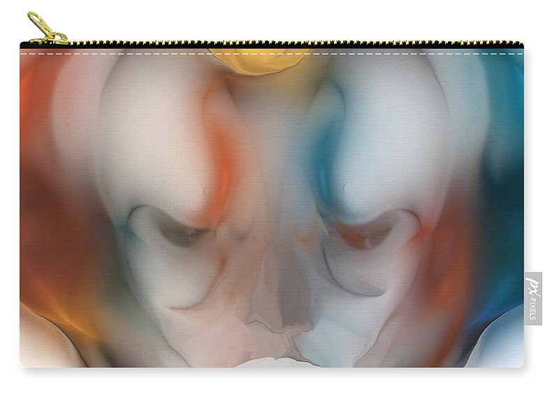Visage Of An Alien Carry-all Pouch featuring the digital art Visage by David Lane