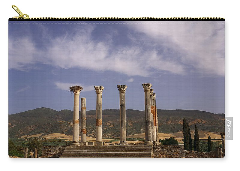 Capitol Carry-all Pouch featuring the photograph Volubilis Capitol by Ivan Slosar