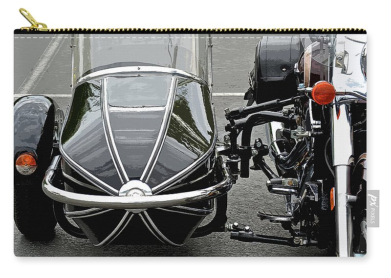Vulcan Classic Side Car Carry-all Pouch featuring the photograph Vulcan Classic Side Car II by Bill Owen