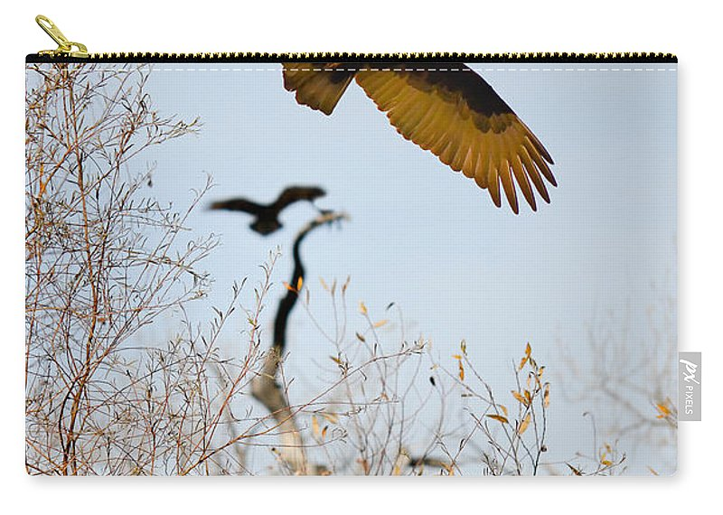 Carry-all Pouch featuring the photograph Vulture by Karen W Meyer