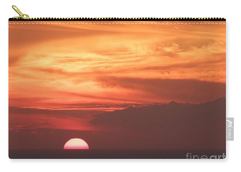 Mary Deal Carry-all Pouch featuring the photograph Waikiki Sunset No 4 by Mary Deal
