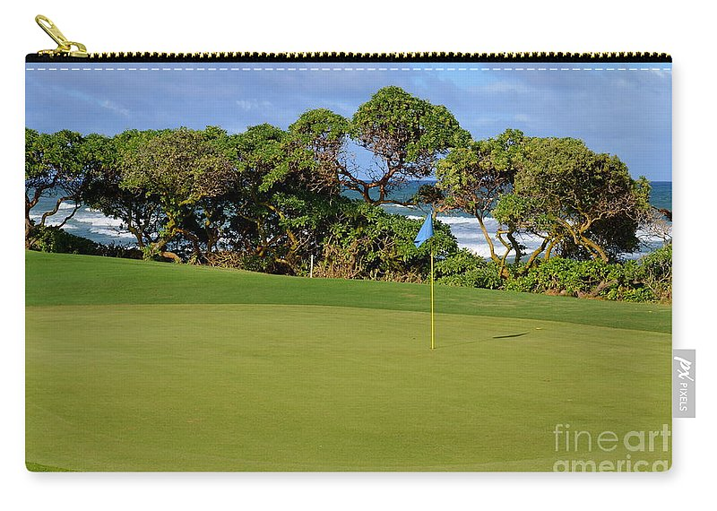 Golf Carry-all Pouch featuring the photograph Wailua Golf Course - Hole 17 - 3 by Mary Deal