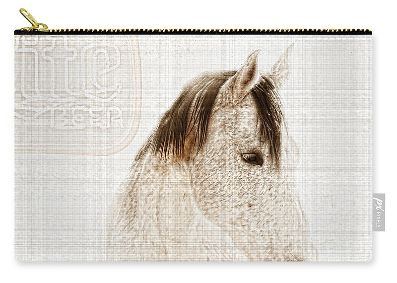 Horse Carry-all Pouch featuring the photograph Waiting For A Beer by Betty LaRue