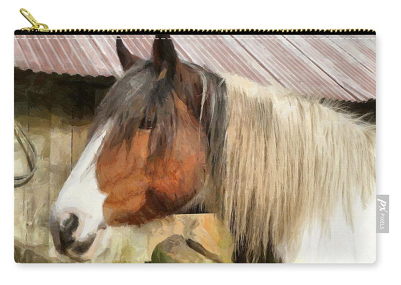 Horse Carry-all Pouch featuring the photograph Waiting For A Stroke by Steve Taylor