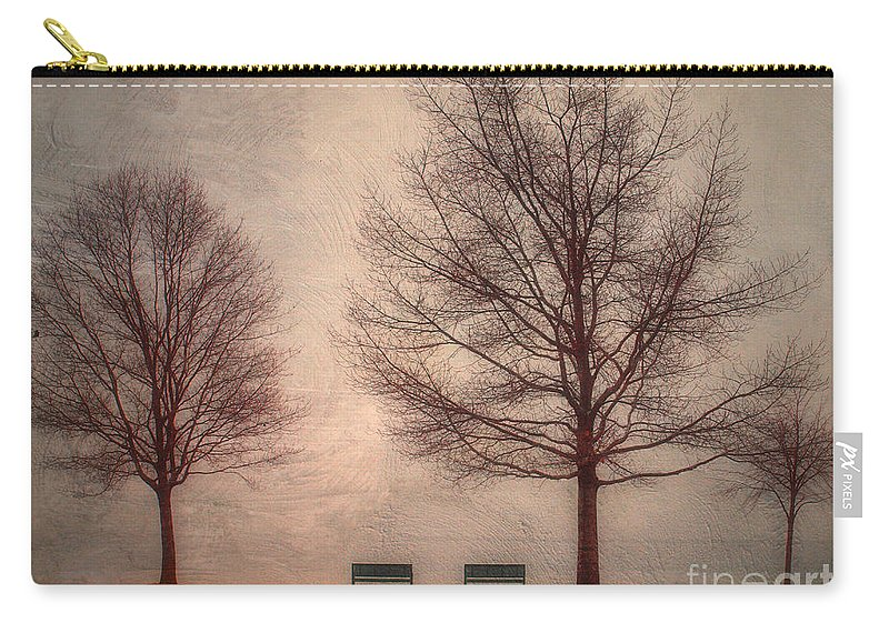 Texture Carry-all Pouch featuring the photograph Waiting For Winter by Tara Turner