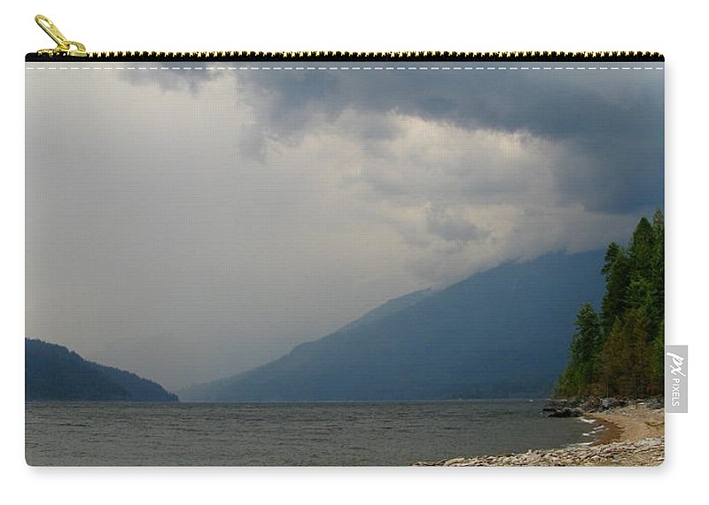 Kootenay Lake Carry-all Pouch featuring the photograph Waiting To Kayak by Leone Lund