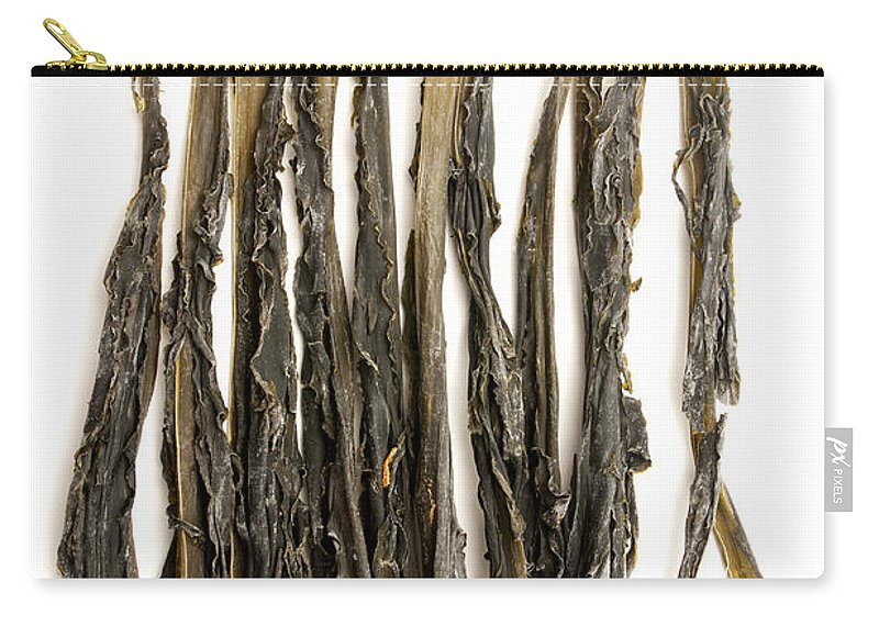 White Background Carry-all Pouch featuring the photograph Wakame by Fabrizio Troiani
