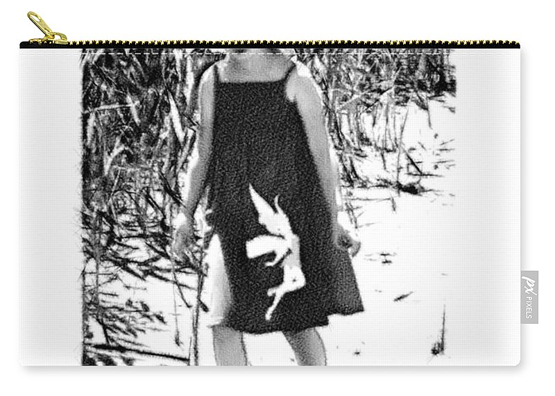 2d Carry-all Pouch featuring the photograph Walking The Shoreline by Brian Wallace