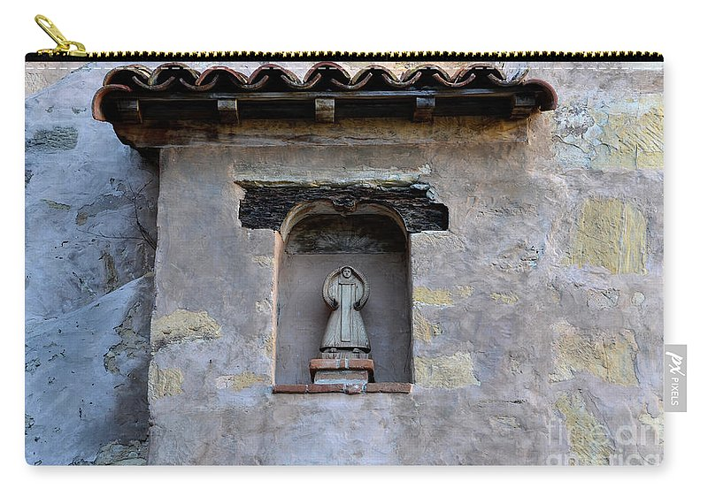 Coast Carry-all Pouch featuring the photograph Wall Detail At Carmel by Bob Christopher