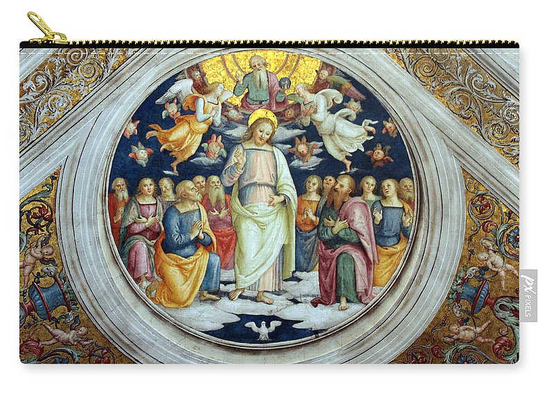 Jesus Carry-all Pouch featuring the photograph Wall Painting by Munir Alawi