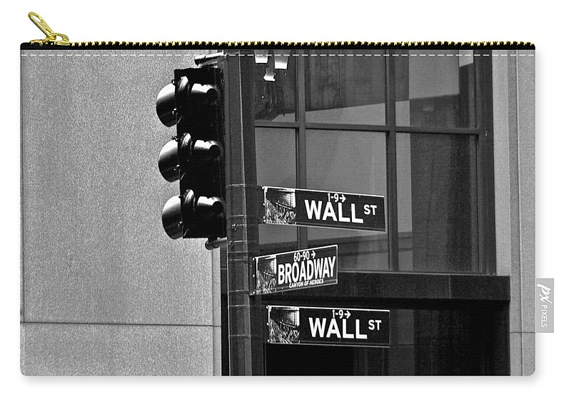 New York City Carry-all Pouch featuring the photograph Wall Street And Broadway by Eric Tressler