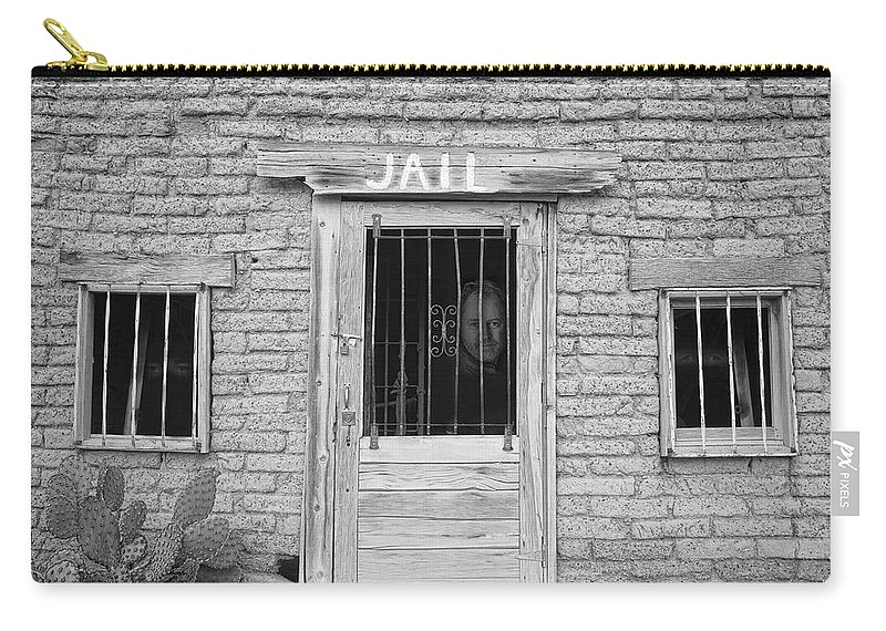 Jail Carry-all Pouch featuring the photograph Wanted - Get Out Of Jail Card by James BO Insogna
