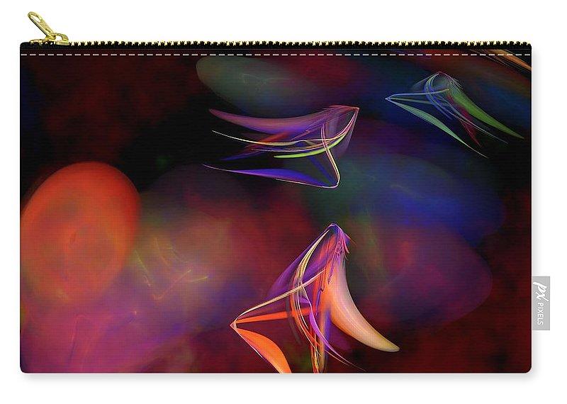 Digital Art Carry-all Pouch featuring the digital art War Dance by Christy Leigh
