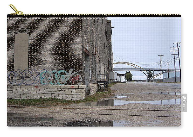 Milwaukee Carry-all Pouch featuring the photograph Warehouse And Hoan 2 by Anita Burgermeister