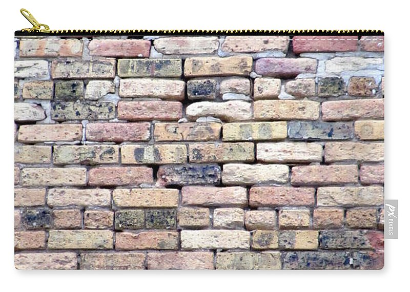 Milwaukee Carry-all Pouch featuring the photograph Warehouse Brick Wall by Anita Burgermeister