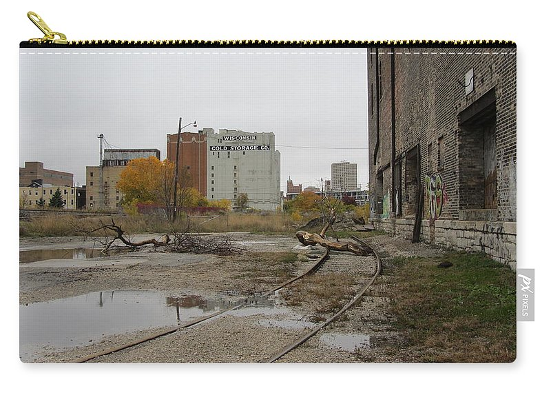 Milwaukee Carry-all Pouch featuring the photograph Warehouse Cold Storage 2 by Anita Burgermeister