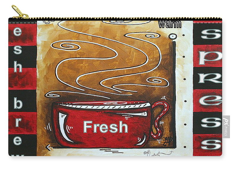 Original Carry-all Pouch featuring the painting Warm Cup Of Joe Original Painting Madart by Megan Duncanson