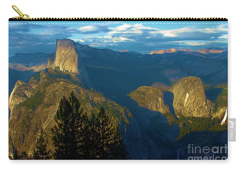 Half Dome Carry-all Pouch featuring the photograph Washburn Sunset by Adam Jewell