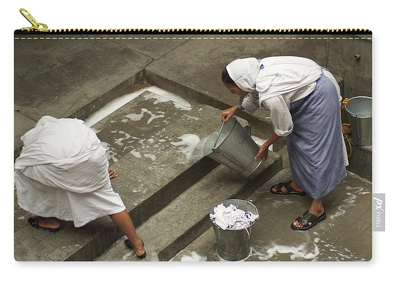 People Carry-all Pouch featuring the photograph Washing At The Motherhouse by Valerie Rosen