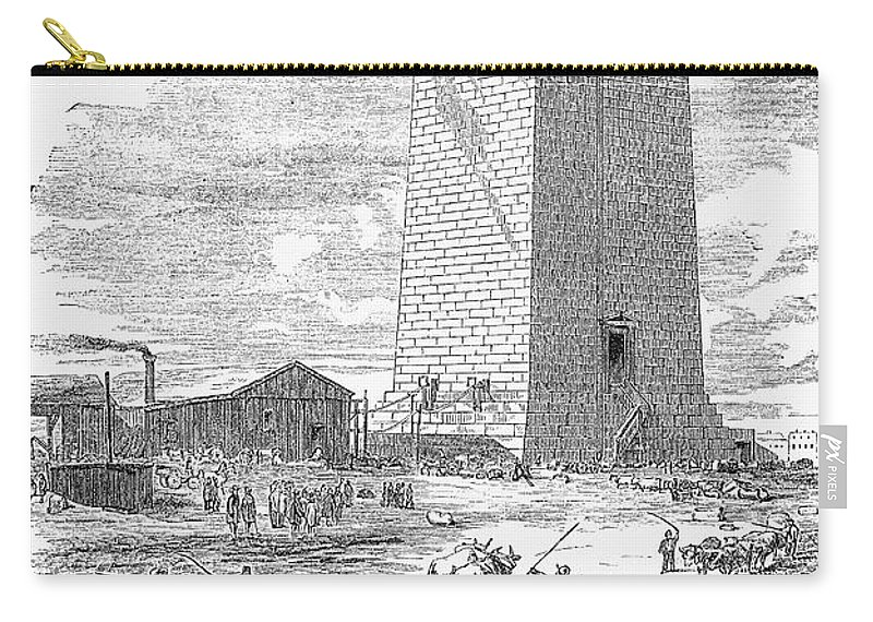 1854 Carry-all Pouch featuring the photograph Washington Monument by Granger
