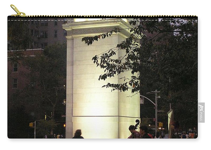 Dog Walking Carry-all Pouch featuring the photograph Washington Square Park by Stefa Charczenko