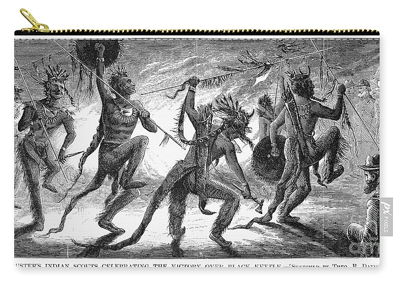 1868 Carry-all Pouch featuring the photograph Washita River, 1868 by Granger