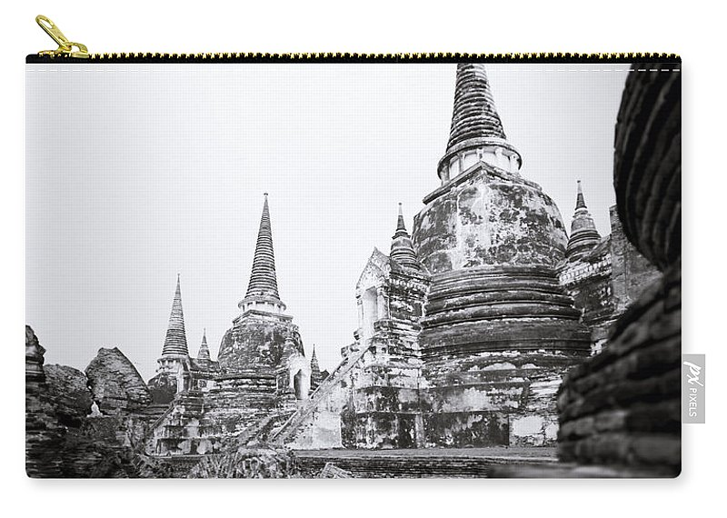 Thailand Carry-all Pouch featuring the photograph Wat Phra Si Sanphet by Shaun Higson
