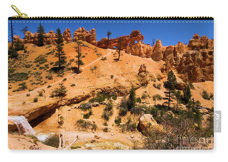 Bryce Canyon National Park Carry-all Pouch featuring the photograph Water Canyon Dragon by Adam Jewell