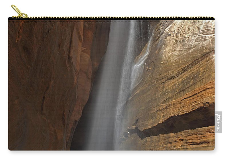 Utah Carry-all Pouch featuring the photograph Water Canyon by Susan Rovira