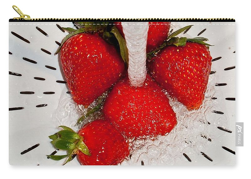 Carry-all Pouch featuring the photograph Water For Strawberries by David Pantuso