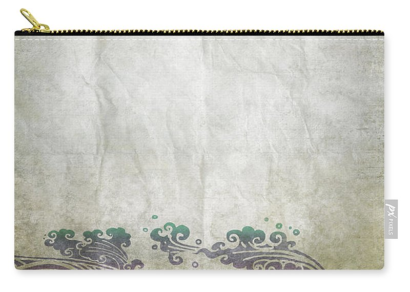 Abstract Carry-all Pouch featuring the photograph Water Pattern On Old Paper by Setsiri Silapasuwanchai