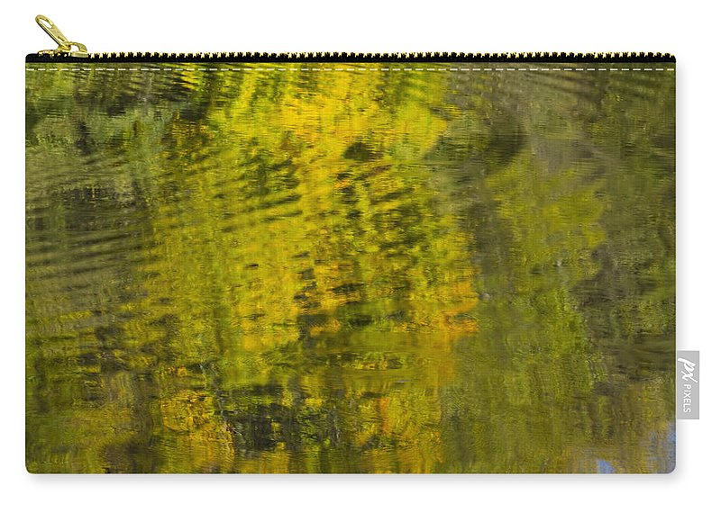 Abstract Carry-all Pouch featuring the photograph Water Reflection Abstract Autumn 1 D by John Brueske