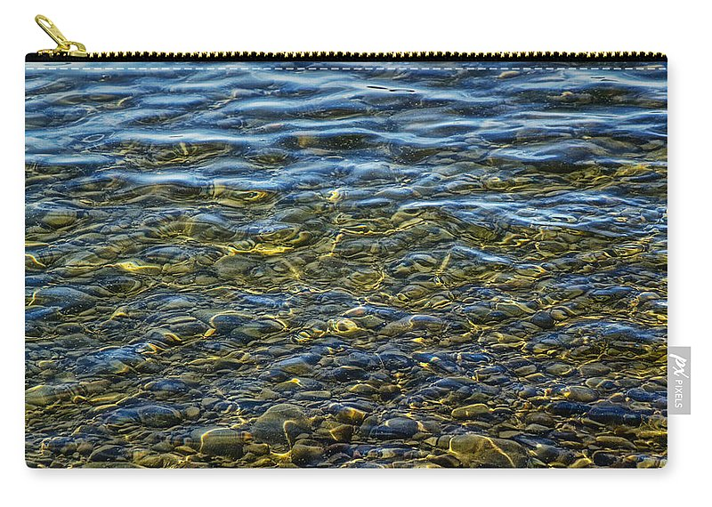 Art Carry-all Pouch featuring the photograph Water Ripples And Reflections On Lake Huron by Randall Nyhof