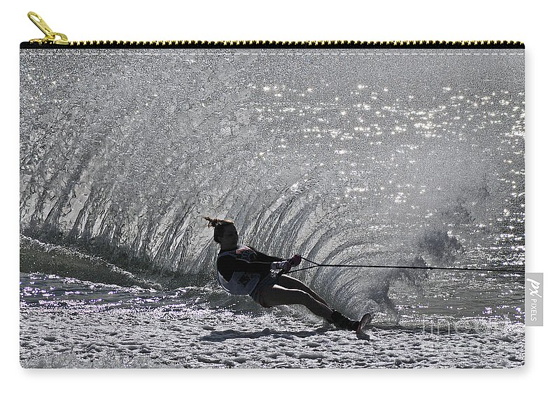 Water Skiing Carry-all Pouch featuring the photograph Water Skiing 3 by Vivian Christopher