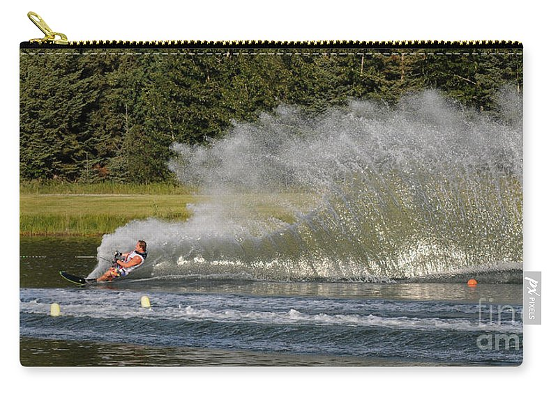 Water Skiing Carry-all Pouch featuring the photograph Water Skiing 4 by Vivian Christopher