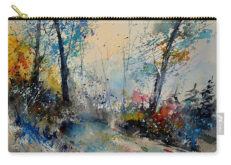 Landsca Carry-all Pouch featuring the painting Watercolor 213020 by Pol Ledent