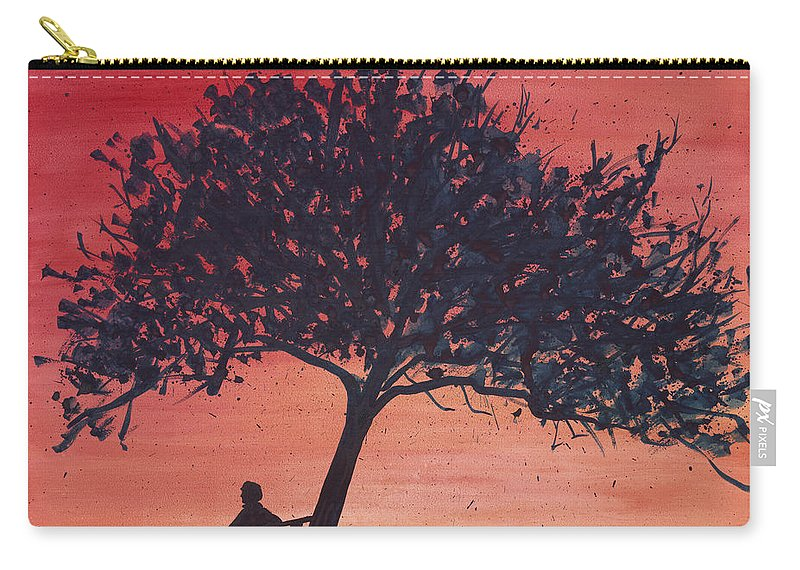 Silhouette Carry-all Pouch featuring the painting Reflections In Red by Sean Corcoran