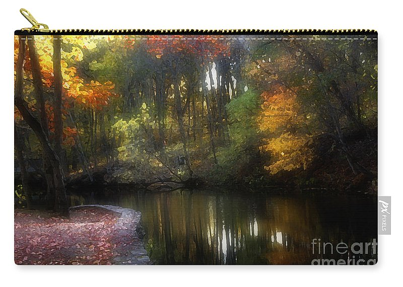 Digital Carry-all Pouch featuring the photograph Watercolours 120 by Mike Nellums