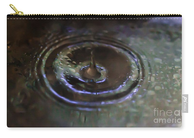 Water Carry-all Pouch featuring the photograph Waterdrop by Scott Hervieux