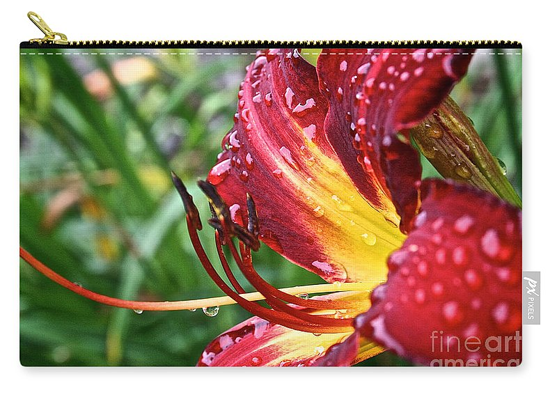Floral Carry-all Pouch featuring the photograph Watered by Susan Herber